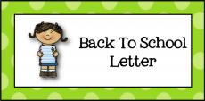 Back to School Letter logo